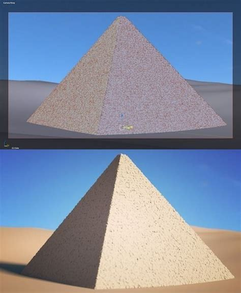 egyptian pyramid historic  model cgtrader
