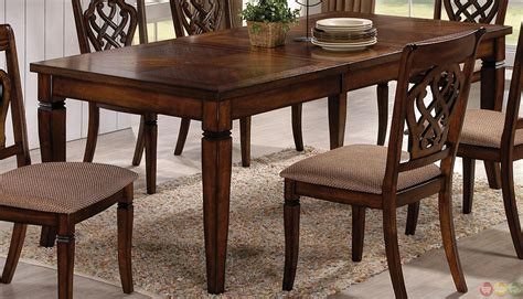 Dining Room Furniture Transitional Style Oak Transitional Style 7 Dining Room Table And