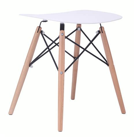 18 Inch Stool White by Door 18 Inch Eames Style Dsw White Stool With Wood Eiffel Legs