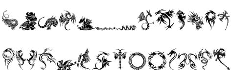 tattoo dragon font tribal dragons tattoo designs font