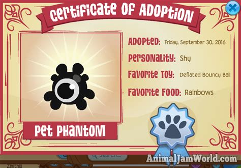 pet phantoms  animal jam