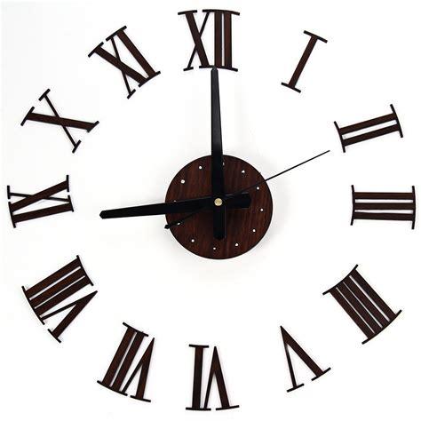 Home Design Decor App Reviews Modern Design Wooden Grain Diy 3d Large Wall Clock Clocks
