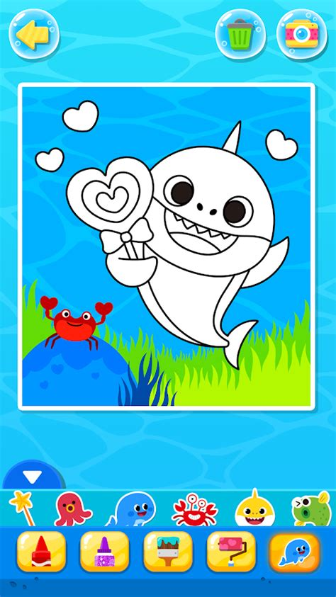 baby shark app pinkfong baby shark coloring book android apps on google