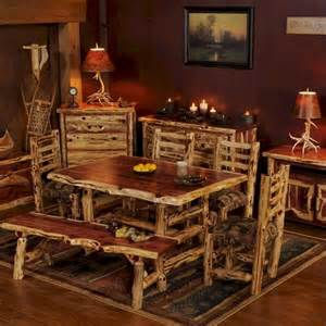 log cabin builder cedar dining set for the home