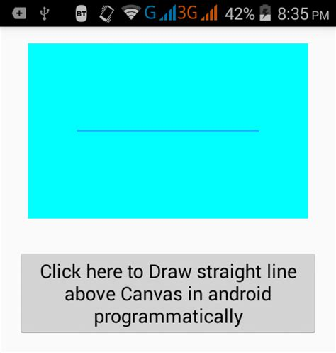 layout canvas android create draw straight line above canvas in android