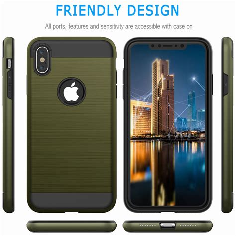apple iphone  xs max xr  shockproof rugged protective phone case cover ebay