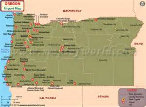 airports in oregon oregon airports map