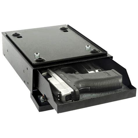 under desk gun safe v line desk mate handgun safe 2597 s blk