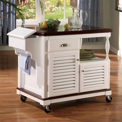 shop coaster furniture white farmhouse kitchen island