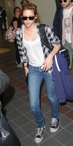 Casual Trend Alert Plaid Shirts Andjeans by Kristen Stewart Casual Style Checked Shirt V Neck Top