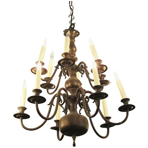 American Chandelier 1900s American Made Colonial Style Twelve Light Chandelier For Sale At 1stdibs