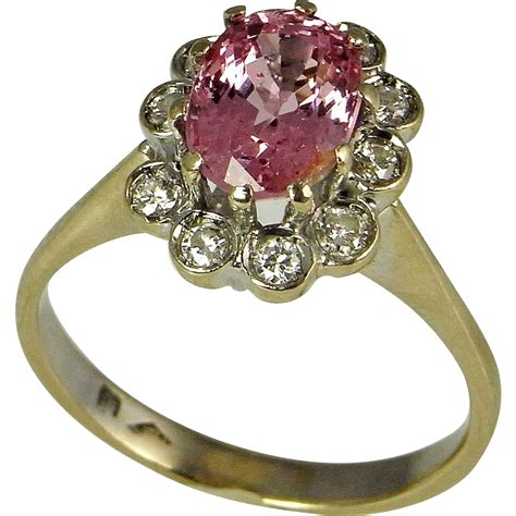 padparadscha sapphire engagement ring padparadscha sapphire ring sapphire engagement ring