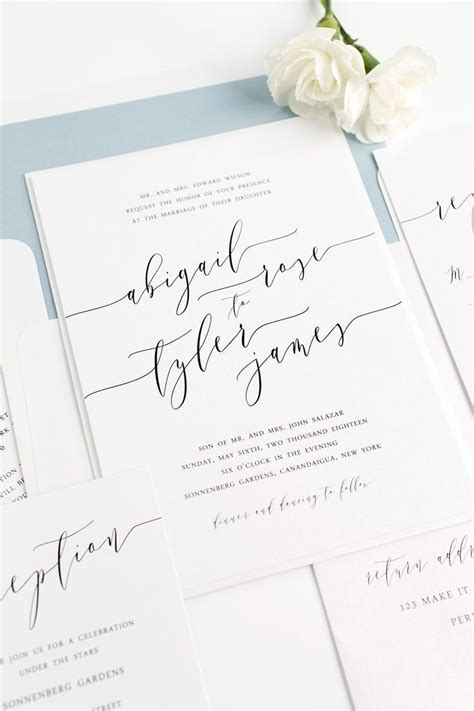 wedding invitations questions to ask calligraphy wedding invitations dusty blue