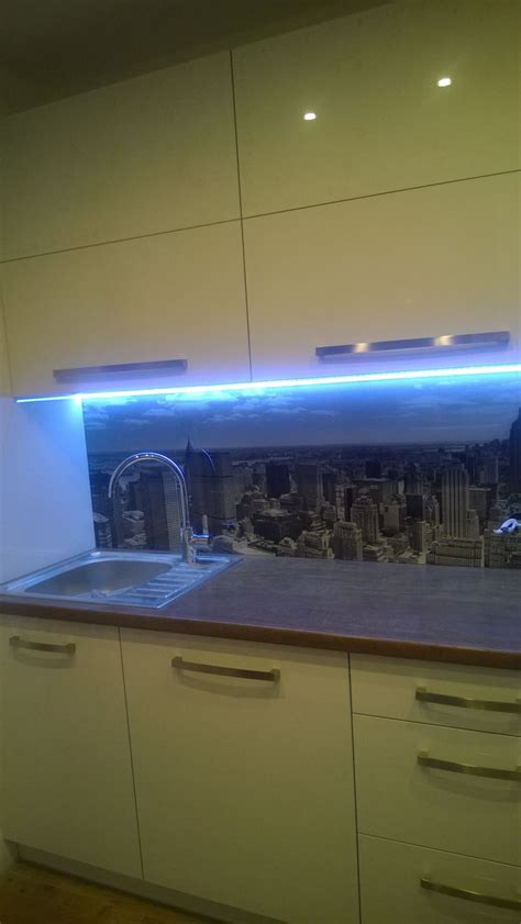 led backsplash kitchen glass backsplash with digital printing made of tempered glass with led background