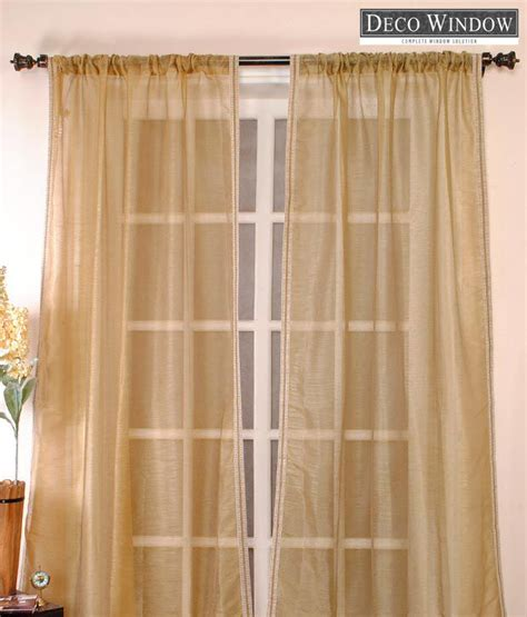 brown sheer curtains deco window light brown sheer curtain buy deco window