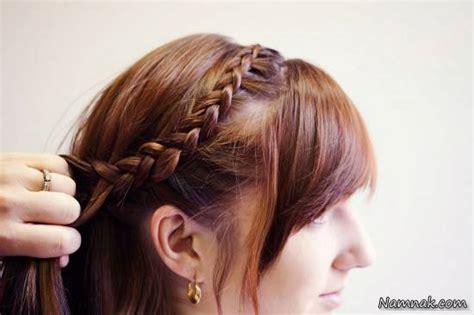 hair braid across back of head آموزش قدم به قدم بافت موی هلندی تصاویر