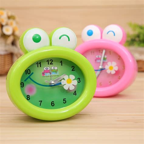 desktop frog alarm clock for lovely children alarm clock student digital alarm clock korean