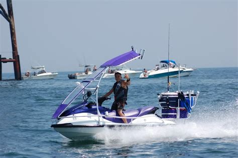 jet ski boat extension quot pimp your ride quot and jet ski fishing chesapeake light tower