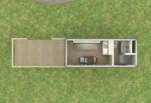shipping container based remote cabin design tiny house