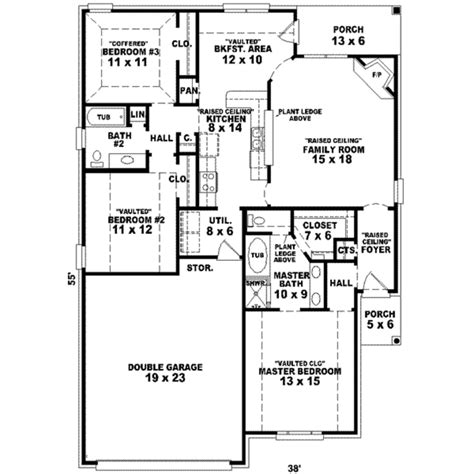 747 floor plan traditional style house plan 3 beds 2 baths 1474 sq ft plan 81 747