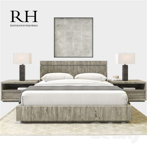 rh beds 3d models bed rh modern bezier bedroom set