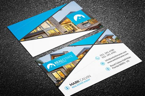 real estate card templates 20 real estate business card templates