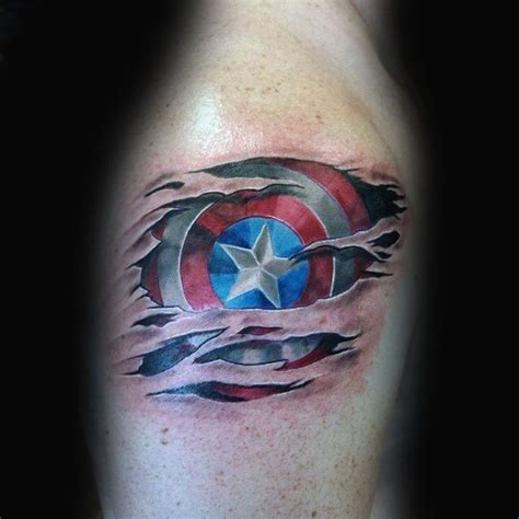 captain america tattoos 70 captain america designs for ink