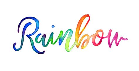 colorful fonts create colorful rainbow brush lettering every tuesday