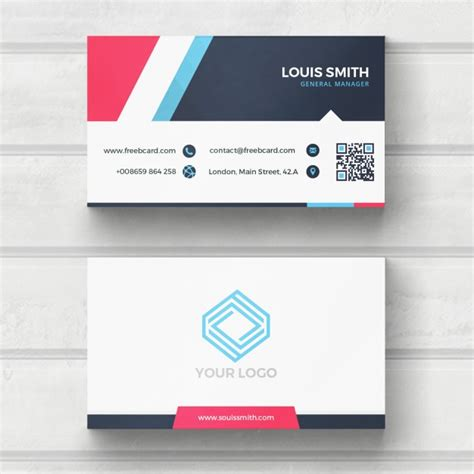 blue business card template psd blue and white business card psd file free