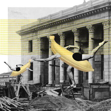 graphics design hong kong kwok collages surreal banana posters for year long