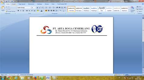 cara membuat kop surat di komputer tugas aplikasi komputer cara membuat surat undangan resmi