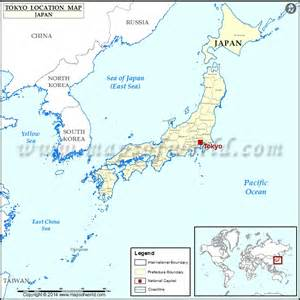 Tokyo On World Map by Where Is Tokyo Location Of Tokyo In Japan Map