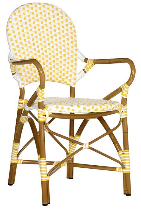 Safavieh Bistro Chairs Indoor Outdoor Armchair Wicker Seat Safavieh