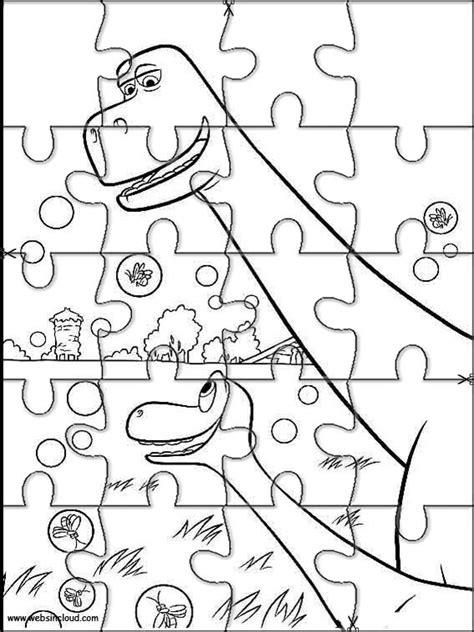 printable dinosaur puzzle the good dinosaur jigsaw to cut out 10
