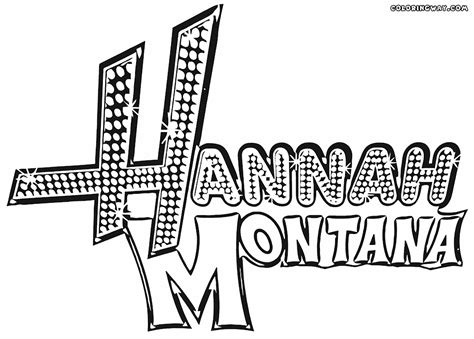 Hannah Montana Coloring Pages Coloring Pages To Download Montana Coloring Page