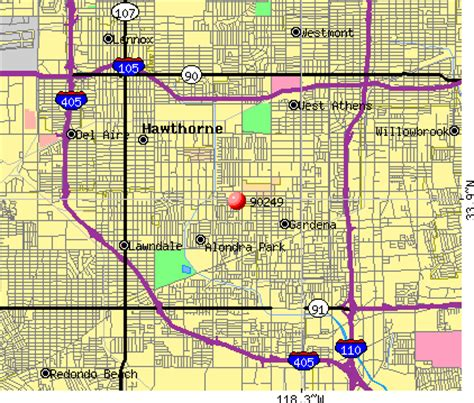 Gardena Ca Postal Code Map Of Gardena California California Map