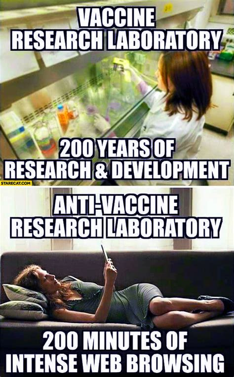 Vaccination Memes - vaccine research laboratory 200 years of research and