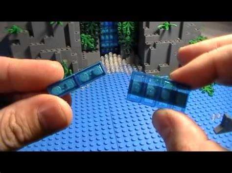 Lego Waterfall Tutorial | lego moving waterfall tutorial skull island youtube