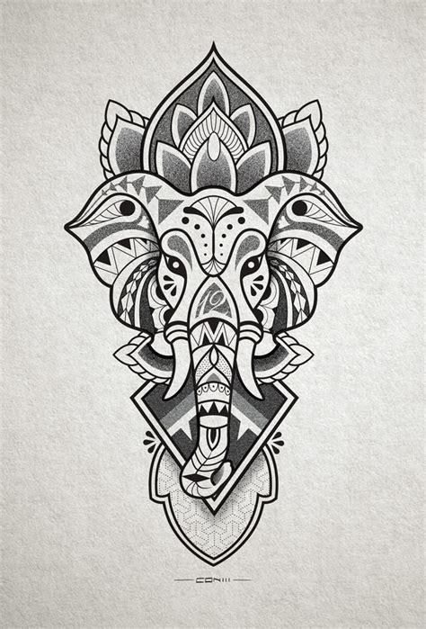 elephant head tattoo design for inner forearm http