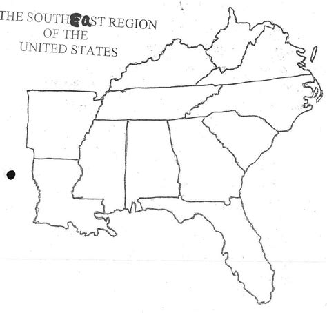 printable map of the southeast united states blank us map northeast region southeast20blank201