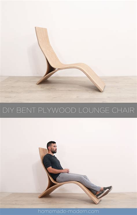 homemade modern ep diy bent plywood lounge chair