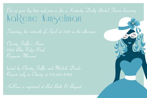 Kentucky Derby Bridal Shower Invitations by Bridal Shower Invitations Bridal Shower Invitations