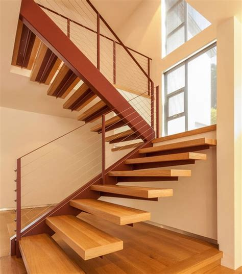Wood Staircase | floating staircase ideas alan and heather davis