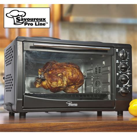 Countertop Oven With Convection Rotisserie by Savoureux Convection Toaster Rotisserie Oven With Two Top Burners Ebay