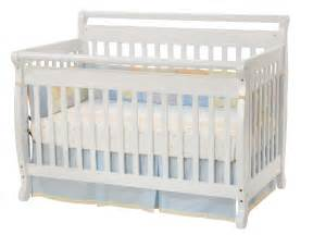 Baby White Cribs Davinci Emily 4 In 1 Convertible Baby Crib In White W Toddler Rails M4791w