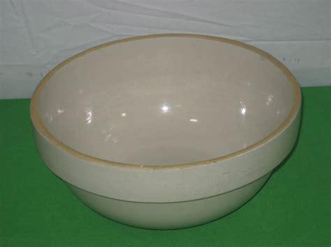 Bowl Salt L by Antique Crock Stoneware Large Salt Glazed Dough Mixing