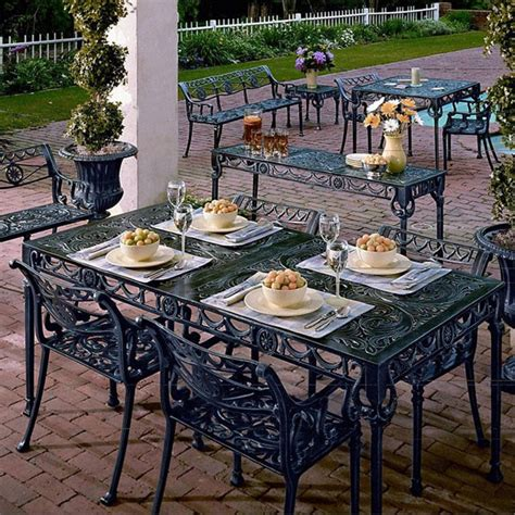Atlanta Patio Furniture Neptune Patio Dining Set 68 Quot Eclectic Outdoor Dining Sets Atlanta By Iron Accents