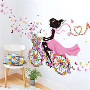 Wall stickers pvc large wall sticker pink girl butterfly bedroom wall