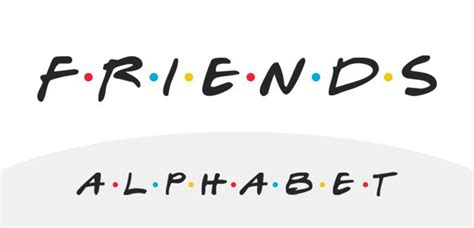 Font With Dots Between Letters an alphabet in the style of the classic tv show friends