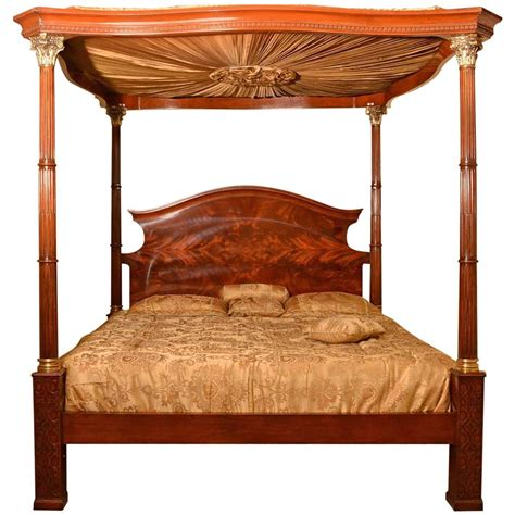 huge super king mahogany four poster bed for sale at 1stdibs